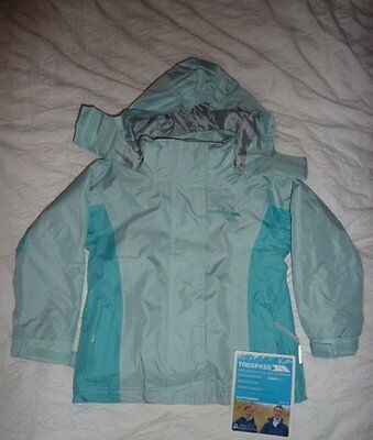 regatta 3 in one blue coat jacket age 3/4 BNWT NEW FLEECE / WINTER COAT / MAC
