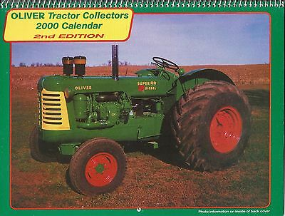New 2000 OLIVER TRACTOR COLLECTOR'S CALENDAR