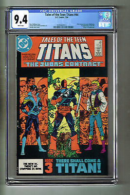 TALES OF THE TEEN TITANS #44 DC COMICS 1984 CGC 9.4 NM 1st NIGHTWING & JERICHO