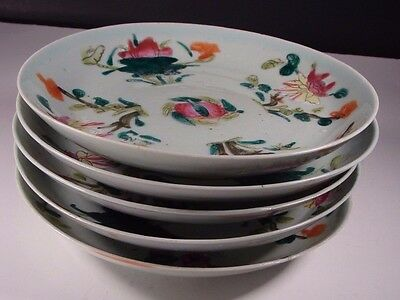 Lot of 5 Antique Chinese Famille Rose Export Porcelain Plates