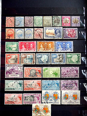 Small used stamps collection of Bermuda.