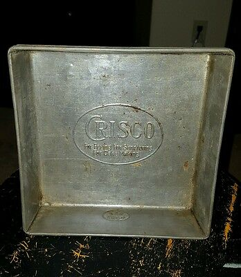 Fabulous Vintage Metal Crisco Square Baking Pan - Must See This One!!!!!