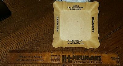 Vintage Neuman'S Ice Cream Ruler & Paper Dish York Pa Westminster Md
