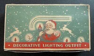 Vintage Decorative Christmas Lights Outfit Box Santa Graphics Works