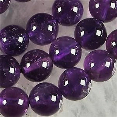 8mm Russican Amethyst Gemstone Round Loose Beads 15inch