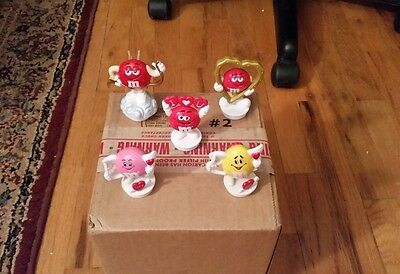 M&M Candy Toppers lot of 5 Valentines theme