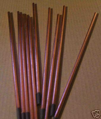"""Carbon Arc cored Rods Welding Cutting Brazing heating 3/8"""" x 6"""" melting metals"""