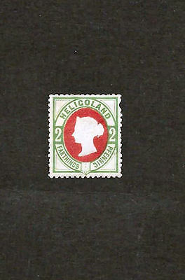 1875 2pf Mint Queen Victoria Heligoland Stamp (SG11)