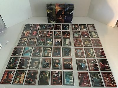 Big Lot Of Star Trek Cards And 3 Collector Glasses