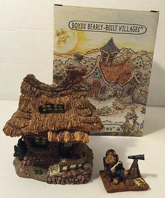 Boyds Bearly-Built Villages~MATTHEW'S BUNGALOW~Town Building Bear Construction
