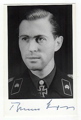 Oberstleutnant Bruno Kahl 1914-99 Coveted Knights Cross + Oakleaves Signed photo