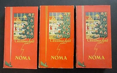(3) Vintage Noma #3010 Christmas Light Boxes c. 1939 All strings WORK!