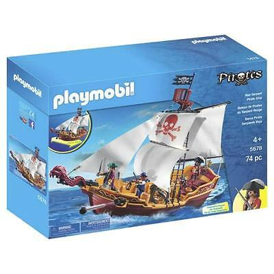 Playmobil 5678 Red Serpent Pirate Ship Brand New Free Uk Postage Age 4+ 74 Piece