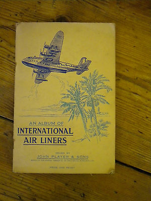 37 John Player Cigarette Cards - International Airliners- In Album