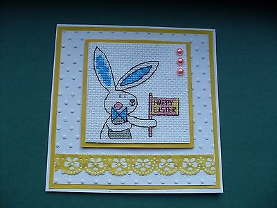 Hand Made Completed Cross Stitch Easter