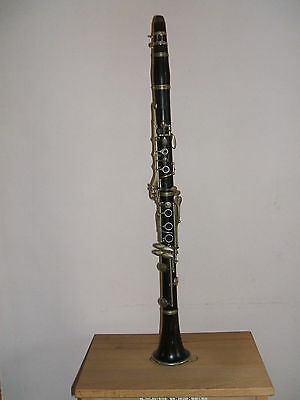 Clarinet: Vintage A. Rampone & G. Cazzani Wooden B Flat Instrument