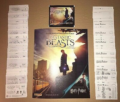 Panini FANTASTIC BEASTS WHERE TO FIND THEM Harry Potter FULL SET 240 Stickers