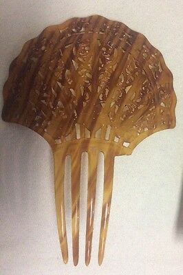 AS IS Vintage  Hair Comb-Spanish Style Mantilla-Faux Tortoise-Celluloid ?AS IS