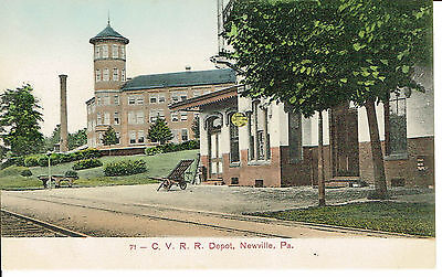 Cumberland Valley Railroad Depot Newville Pa Early 1900s C.V.R.R.