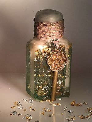 Vintage Antique Hand-Blown Glass Ink Bottle Decorated Gift Christmas 1 of 16