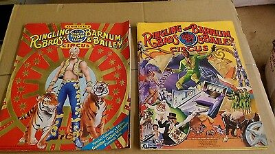 Ringling Bros. And Barnum & Bailey Circus show programs, 1982, 1989