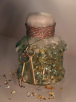 Vintage Antique Hand-Blown Glass Ink Bottle Decorated Gift Christmas 2 of 16