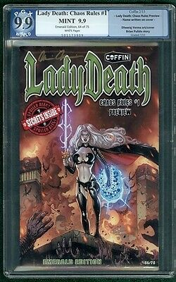 Lady Death Chaos Rules #1 Variant (Coffin 2013) PGX Graded 9.9 - MT Signed