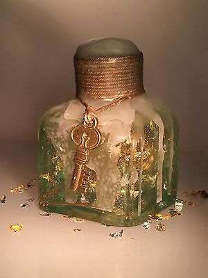 Vintage Antique Hand-Blown Glass Ink Bottle Decorated Gift Christmas 5 of 16