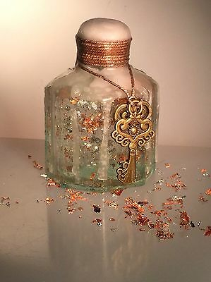 Vintage Antique Hand-Blown Glass Ink Bottle Decorated Gift Christmas 6 of 16