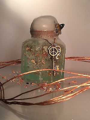 Vintage Antique Hand-Blown Glass Ink Bottle Decorated Gift Christmas 7 of 16