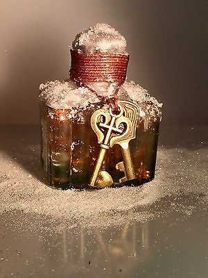 Vintage Antique Hand-Blown Glass Ink Bottle Decorated Gift Christmas 9 of 16