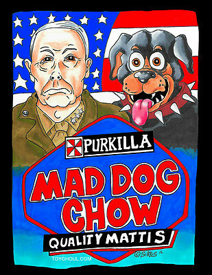 Wacky Packages Inspired Mad Dog Chow Parody General Mattis Print And Card