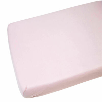4x Cot Bed Jersey Fitted Sheet For Toddler 100% Cotton 140x70cm Pink