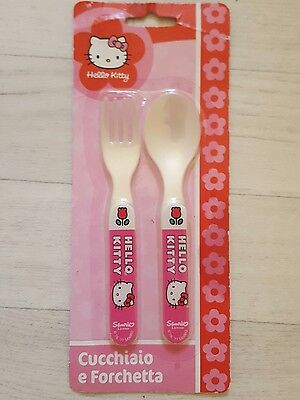 "Baby ""Hello Kitty"" Fork and Spoon Set BN"
