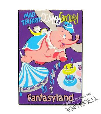FANTASYLAND ATTRACTION POSTER SERIES LE DISNEY PIN w/ DUMBO & MAD TEA PARTY