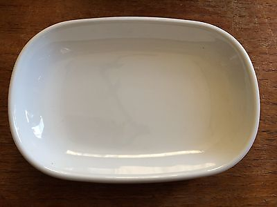UNITED AIRLINES Vintage Oval CORNING Ceramic Casserole Dish Plate