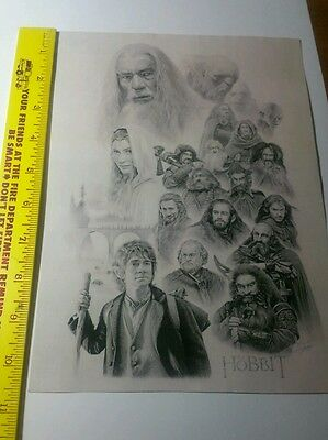 Lord of the rings hobbit picture prints