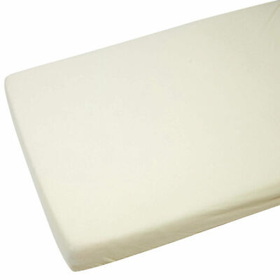 2x Cot Bed Jersey Fitted Sheets 100% Cotton 140cm x 70cm Cream