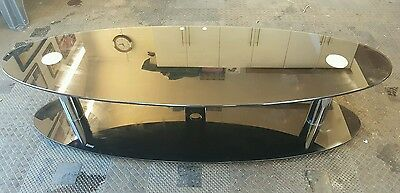 black glass coffee table/ TV stand