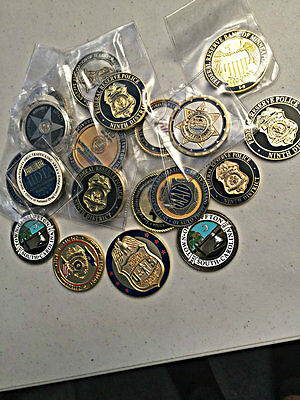 10 PACK LOT OF CHALLENGE COINS Law Enforcement & Military