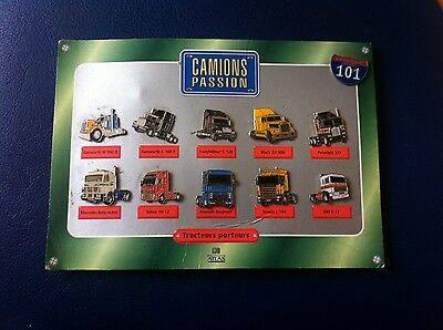 lot 11 pin's camion passion routie scania volvo renault mercedes mack kenworth