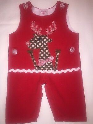 "Girl's Size 0-6 Months Mudpie Christmas Romper ""cute"""