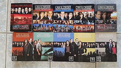 Law and Order SVU Seasons 1 - 10 DVD's