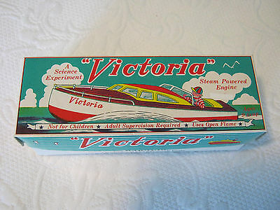 """Victoria"" steam powered engine metal toy boat by Schylling 1996"