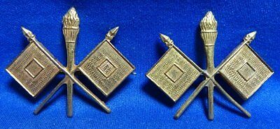 WWI Army Signal Corps Officer Dress Insignia Set GREAT SHAPE
