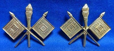 WWI Army Signal Corps Officer Dress Insignia Set VERY NICE CONDITION