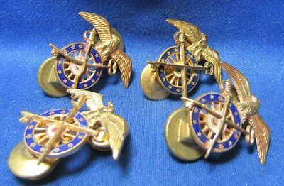WWI Era 1920s Army Quartermaster Officer Insignia Sets Lot Of 4 by Amcraft