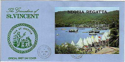1988 GRENADINES of ST VINCENT – Bequia Regatta M/S  FDC