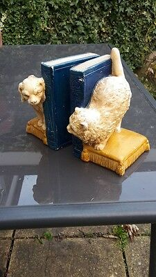 BARGAIN! Limited Edition Vintage Bretby Dog And Cat Bookends