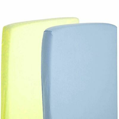 2x 100% Cotton Jersey Fitted Sheet Compatible with Toddler / Junior Bed 140x70cm